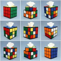 Rubik's Cube Tissue Box Covers, Big Bang Theory Rubiks Cube Hand Made in the USA