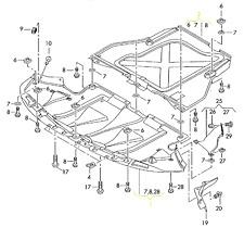 Audi A6 A6Q 05 - 11 OEM Engine Splash Shield Guard 4F0863821 T K H GENUINE