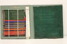 Vieja Book m. dif. lápices de colores de Eberhard Faber Castell goldfaber Copier