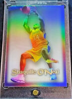 SHAQUILLE O'NEAL FLEER SHOWCASE DUNK REFRACTOR RARE SP LOS ANGELES LAKERS