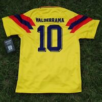 COLOMBIA ADIDAS Climacool Away Blue Football Soccer Jersey Long ... 07b2fd0fc