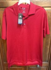 adidas Golf Men S Polo Shirt Red Climalite Tennis T Mag