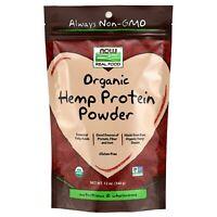 NOW Foods Hemp Protein Powder, Organic, 12 oz.