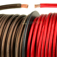 20' Ft Super Flexible 4 Gauge Power Ground Wire Cable 10 FT Red 10 FT Black