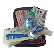 Primacare KB-7411 Red Nylon Personal First Aid Kit - Red Stocked with Supplies