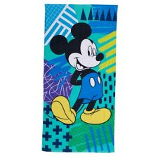 NWT Disney's Mickey Mouse Bath & Beach Towel 58x28 Blue/Green Multi