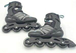 Rollerblade Zetrablade Women's Black And Teal Rollerblades Size 8