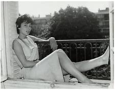 Françoise Prévost, actrice française  Vintage silver print Tirage argentique