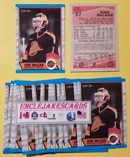 1989-90 OPC #61 KIRK MCLEAN ROOKIE GOALIE VANCOUVER CANUCKS O-PEE-CHEE