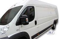 """DFI15147 Peugeot BOXER 2006 - up """"L"""" wind deflectors 2 pcs set TINTED HEKO"""