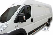 "DFI15147 Peugeot BOXER 2006 - up ""L"" wind deflectors 2 pcs set TINTED HEKO"