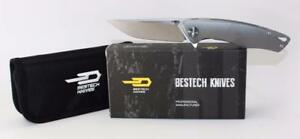 Bestech Knives Dolphin Knife Grey Titanium Handle Stonewash Plain Edge BT1707C