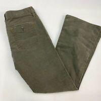 Gap 1969 Limited Edition Pants Womens 4 Olive Green Bootcut Leg Corduroy Stretch