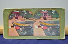 "Antique Stereoview Card - #83 ""Hel_ Splash or the Housemaids Hard Luck c.1898"