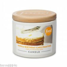 NEW Food Network Vanilla Birthday Cake Frosting Candle in a White Ceramic Jar