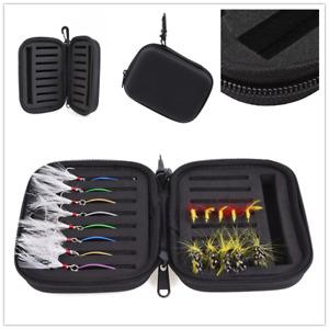 1 PC Fishhook Bag Bait Storage Boxed Slots EVA Sequined Black Fishing Gear Bag