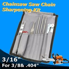 "8pcs/set Chainsaw Saw Chain Sharpening Kit for 3/16"" 404'' Flat File Depth Gauge"