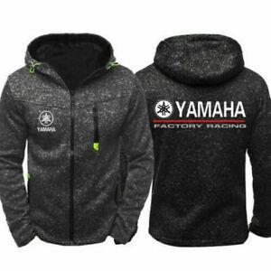 Newest YAMAHA motorcyc Hoodie Men Jacket Full Sweatshirts warm Coat Autumn Tops~