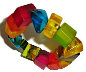 Sobral Aventuras Indiana Multi Color Mix Chunky Bead Artist Made Bracelet