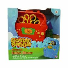 Electronic Toy Double Bubble Machine With Mixture Bubble Blower Outdoor Toy New