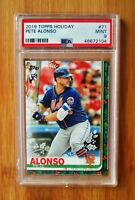 2019 Topps Holiday #71 PETE ALONSO Mets - ROOKIE PSA 9 MINT