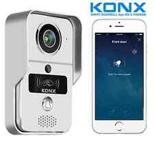 KONX® KW02C Interphone Portier Video 720p IP-Wifi-Relais porte-RFID-Full Duplex