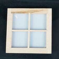 1:12 Scale 4 Pane Wooden Dormer Window Dolls House Miniature DIY Craft Parts