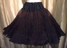 Black Medium Petticoat Crinoline Partner Please Malco Modes Rockabilly Square US