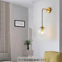 Modern Wall Lamp Home Glass Wall Light Bedroom Wall Sconce Room Gold Lighting