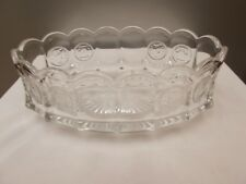 """9"""" Fostoria Clear Coin Glass Oval dish/candy"""