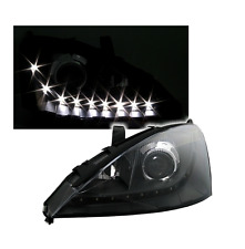 2 FEUX PHARE AVANT DEVIL EYES LED NOIR FORD FOCUS DE 10/2001 A 10/2004