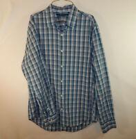 Perry Ellis Mens Long Sleeve Button Front Casual Dress Shirt Size MEDIUM M