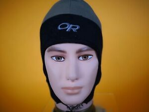 OUTDOOR RESEARCH PERUVIAN WINDSTOPPER HAT EARFLAPS CHIN CORD FLEECE INSULATION