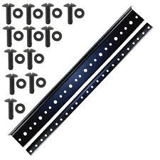 "rack rail 8U space 14"" (1 Pair) black plated 10/32 Standard thread for amp rack"