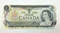 1973 Canada 1 One Dollar Prefix IL Canadian Circulated Banknote E409