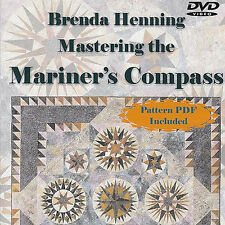 NEW DVD: MASTERING THE MARINER'S COMPASS Brenda Henning Workshop + Pattern PDF