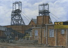 Manor Colliery - 1899 - 1982 - Ltd Ed Print - Pit Pics - Coal Mining