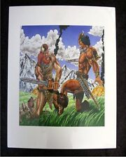 ROBERT E HOWARD CONAN THE BARBARIAN HAND COLORED PROOF & FINAL POSTER MARVEL