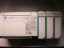 ALLEN BRADLEY MICRO LOGIX 1500 RACK, 1764-28BXB, 1769-IQ16, OB16P, IQ16, ERC,