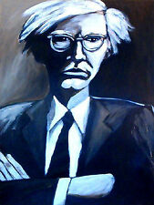 PORTRAIT of ANDY WARHOL print poster by fro-art pop art interview magazine 60s