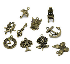 20 X Assorted Bronze Charms