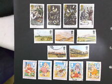 Great Britain 3 Complete Used Sets Sc # 1515-8.1548-2.1553-7.#101 3