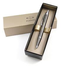 Personalised Engraved Parker IM Ballpoint Pen - Gun Metal with Chrome Trim - Gre