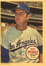 1967 Topps Pin-Up #16 Don Drysdale - Los Angeles Dodgers (Hall of Fame)