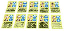 Paquete De 10-Etiqueta de Advertencia Etiqueta Engomada de la Seguridad Motosierra pictograma imágenes