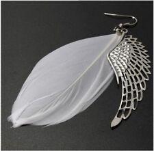 Angel Wing Earrings Feather Dangle Long Earring Women Chandelier Drop Fashion