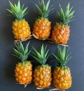 Cute miniature pineapples. fake foods, staging (6 pieces)
