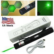 Usb Rechargeable 500Mile Green Laser Pointer 532nm 2in1 Star Cap Presentation