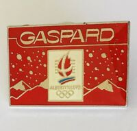 Gaspard Sponsor Albertville 1992 Olympics Pin Badge Advertising Vintage (H9)
