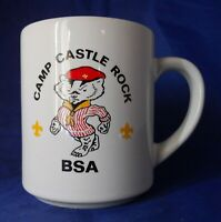 Vintage Camp Castle Rock B.S.A Boy Scouts Coffee Mug Cup 8 Oz.